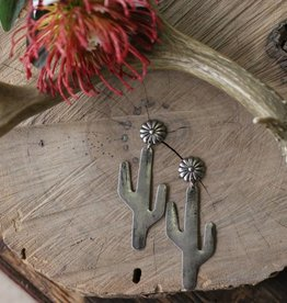 Cactus Earring with Concho Post