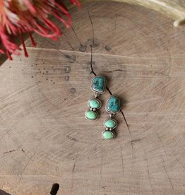 Campetos Green Turquoise Tiered Earring