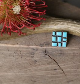 Campetos Turquoise Square Ring size 7.5