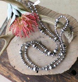 Multi Size Navajo Pearl Necklace 60 in