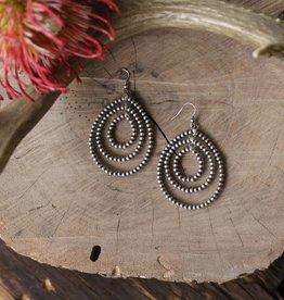 Triple Teardrop Petite Navajo Pearl Earring