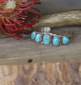 Campetos Turquoise Stone Cuff