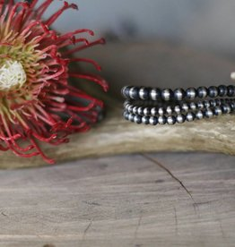 Triple Strand Multi Size Navajo Pearl Bracelet