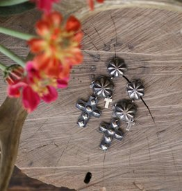 Sterling Silver Cross Stamped Earrings