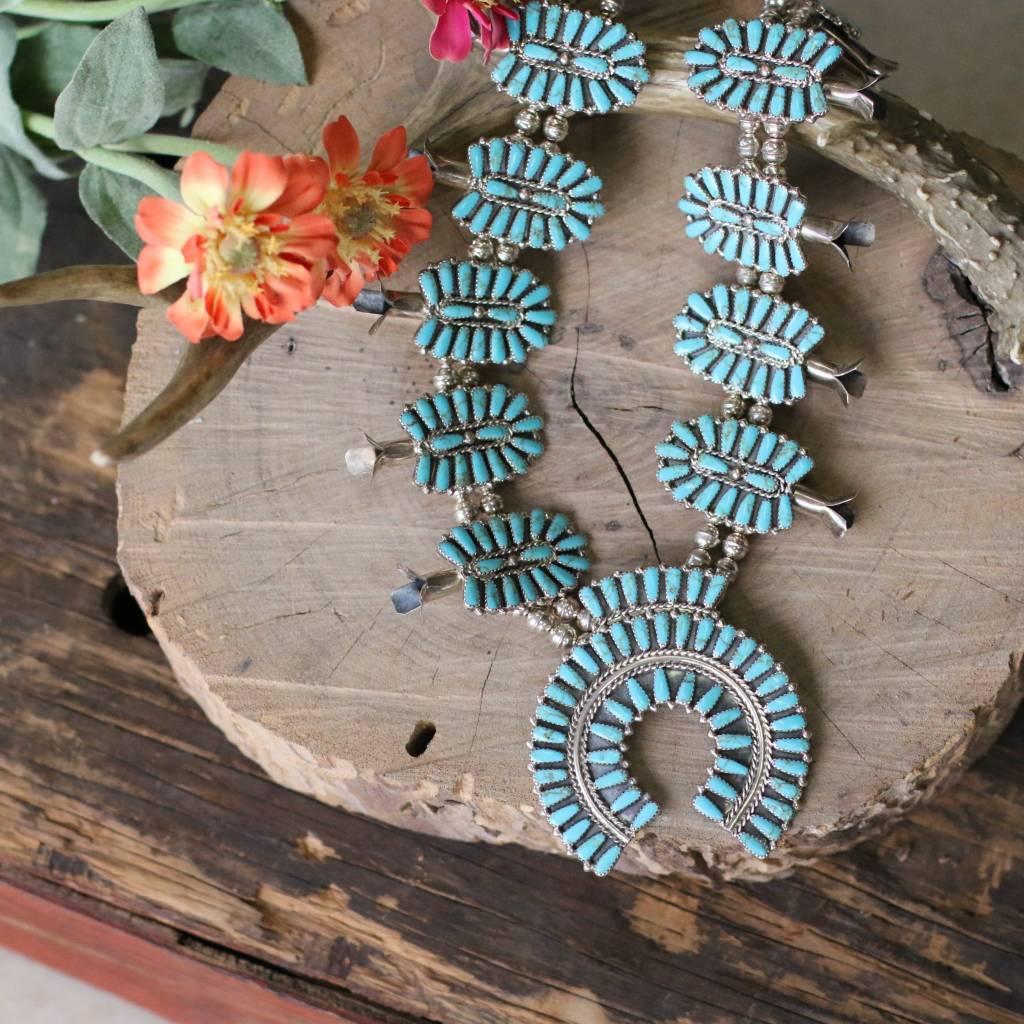 Zuni Turquoise Squash Blossom