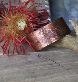 Large Hammered Copper Bangle