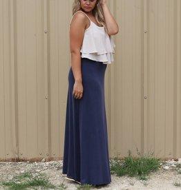 Freeway Colorblock Ruffle Maxi Dress