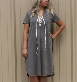 Distressed Charcoal Dress