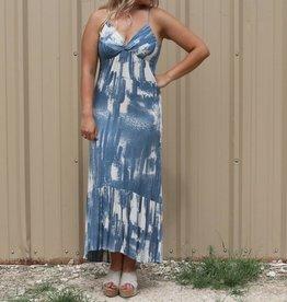 Halter Style Cactus Print Maxi Dress