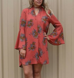 Rust Floral Tunic