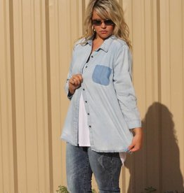 Shadow Pocket Denim Shirt
