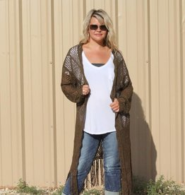 Sweater Duster with Fringe