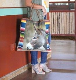 Vintage Serape Donkey Tote Bag