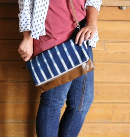 Vintage Indigo Envelope Satchel Crossbody