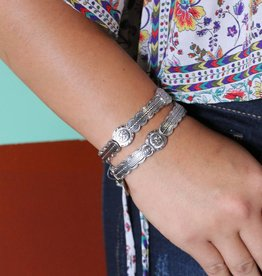 Silver Aztec Thunderbird Stretch Bracelet
