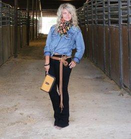 PUNCHYS Maya Leather Strand Wrap Belt