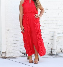 Sleeveless Red Salsa Dress