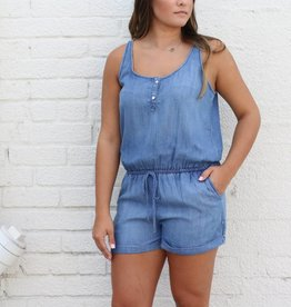 Denim Short Romper