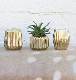 Punchy's Small Gold Votive Holder