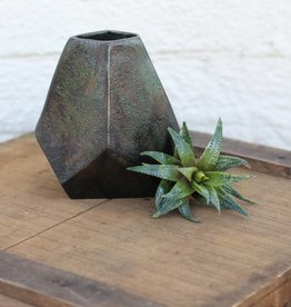 Aristide Cast Geometric Vase