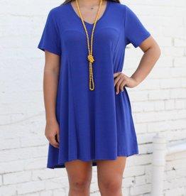Deep-V Tee Dress