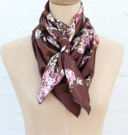 Chocolate Floral Wild Rag