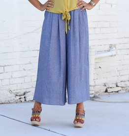 Freeway Cropped Tencil Denim Palazzo Pant