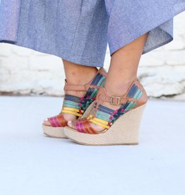 Fiesta Leather Wedge