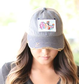 On The Road Again Patch Denim Hat