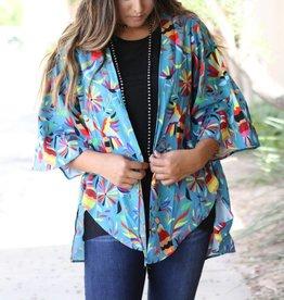 Mexican Otomi Print Kimono