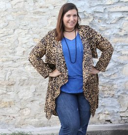 Leopard Print Long Sleeve Kimono
