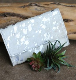 Acidwashed Cowhide Snap Belt Clutch