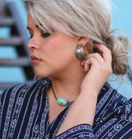 Stamped Aztec Sterling Silver Earrings