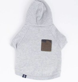 Zoo Supply Pet Grey Camo Pocket Hoodie