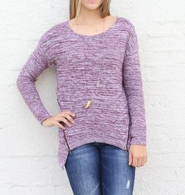 Stacie Zip Front Sweater