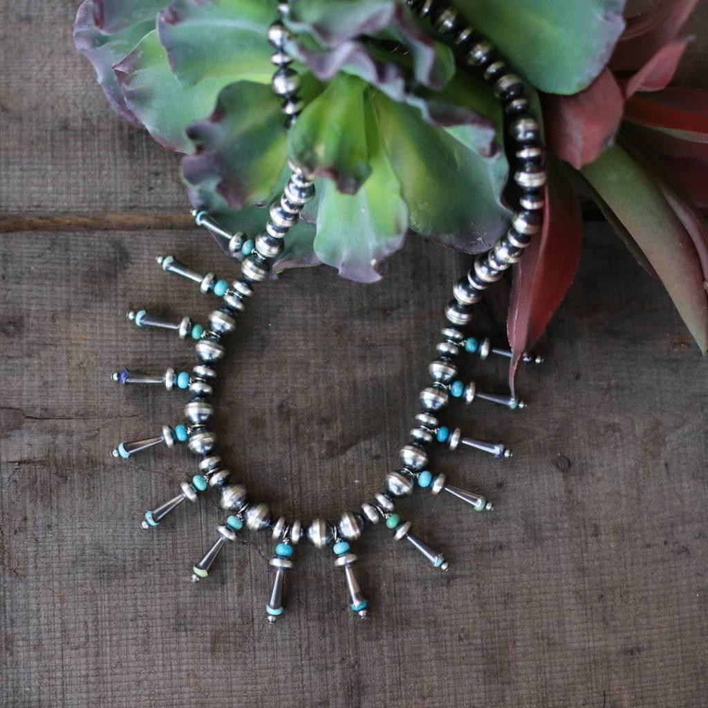 Mini Multi Blossom Navajo Pearl Necklace