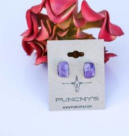 Punchy's Amethyst Stud Earring
