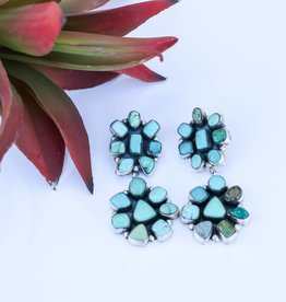 Double Flower Carico Lake Post Earring