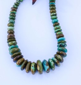 Green Turquoise Disk Bead Necklace