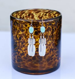 Hook Earring Campetos Turquoise & Feather