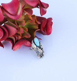 Old Pawn Size 7 Turquoise Ring