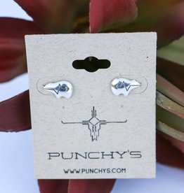 Punchy's Sterling Silver Lightening Bear Stud