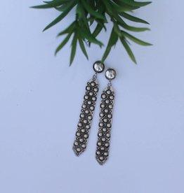 SALE40 Sterling Silver Dotty Earring