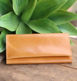 Tri Fold Leather Clutch Wallet