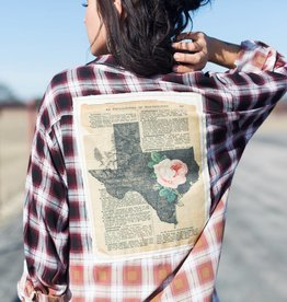 Texas Patch Wine Plaid L/s