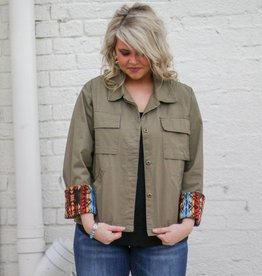 Cargo Jacket with Aztec Patch