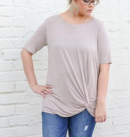 Front Knotted Basic Tee