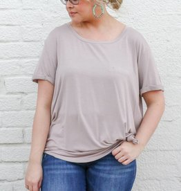 Side Knot Basic Pocket Tee
