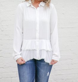 Ruffled Button Down Top