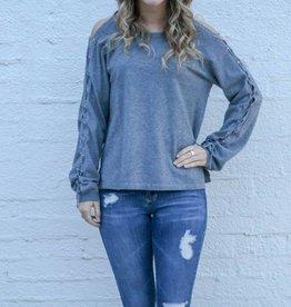 Braided Sleeve Sweater